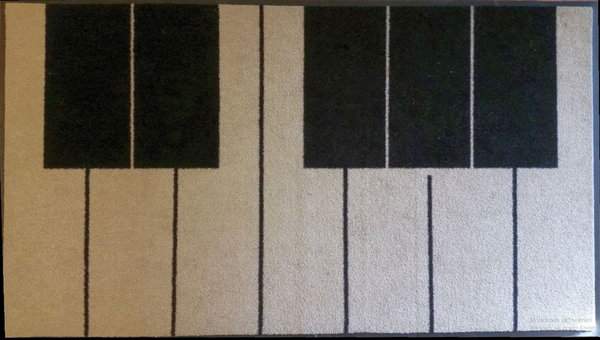 "Piano-Teppich/""Keyboard"" Rug, Size 100х150cm USED, CLEANED"